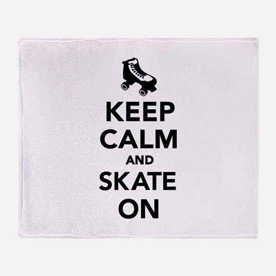 Keep calm and Skate on Throw Blanket