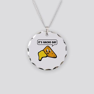 It's Nacho Day Necklace Circle Charm