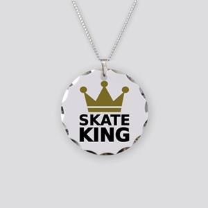 Skate king Necklace Circle Charm