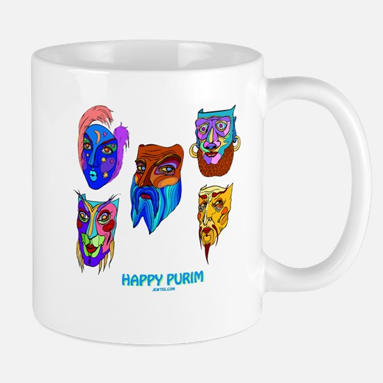 Happy Purim Masks Mugs
