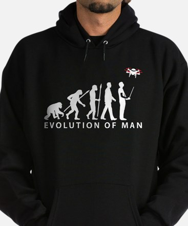 evolution of man controlling drone model Hoody