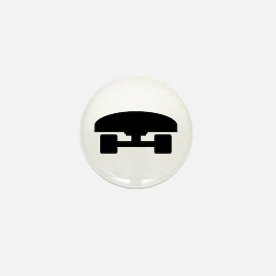 Skateboard logo icon Mini Button