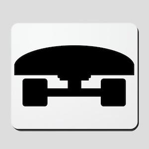 Skateboard logo icon Mousepad