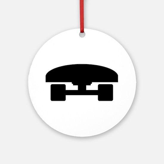 Skateboard logo icon Ornament (Round)