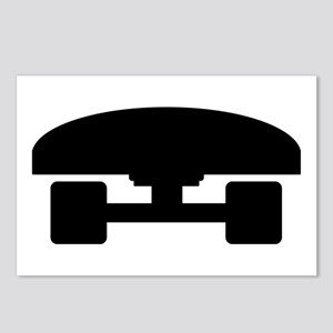 Skateboard logo icon Postcards (Package of 8)