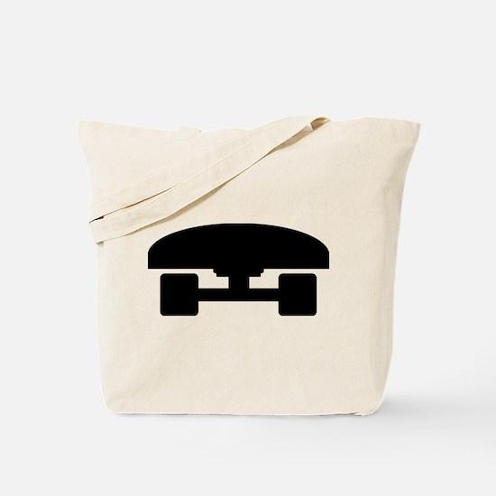 Skateboard logo icon Tote Bag