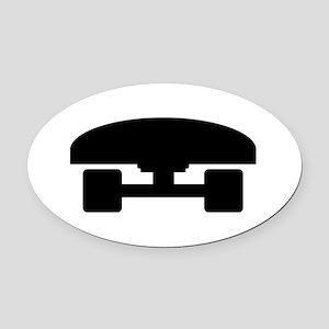 Skateboard logo icon Oval Car Magnet