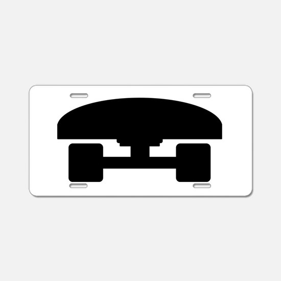 Skateboard logo icon Aluminum License Plate