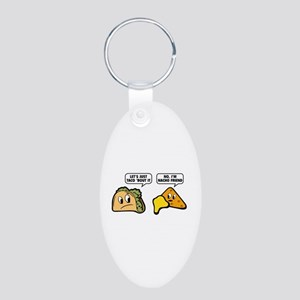 Let's Just Taco 'Bout It Aluminum Oval Keychain
