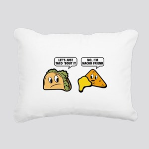 Let's Just Taco 'Bout It Rectangular Canvas Pillow