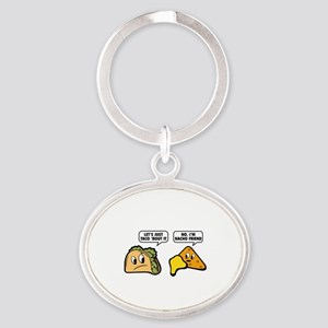 Let's Just Taco 'Bout It Oval Keychain