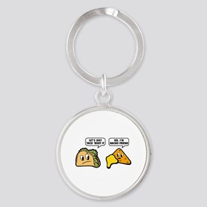 Let's Just Taco 'Bout It Round Keychain