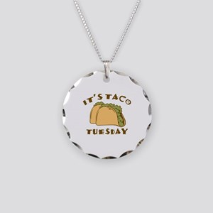 It's Taco Tuesday Necklace Circle Charm