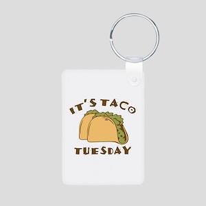It's Taco Tuesday Aluminum Photo Keychain