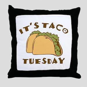 It's Taco Tuesday Throw Pillow