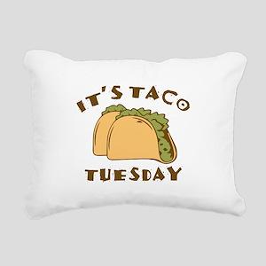 It's Taco Tuesday Rectangular Canvas Pillow