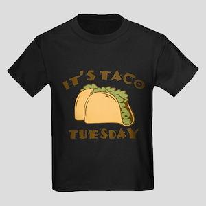 It's Taco Tuesday Kids Dark T-Shirt
