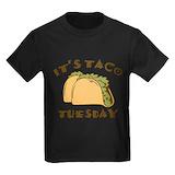 Taco tuesday Kids T-shirts (Dark)