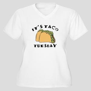 It's Taco Tuesday Women's Plus Size V-Neck T-Shirt