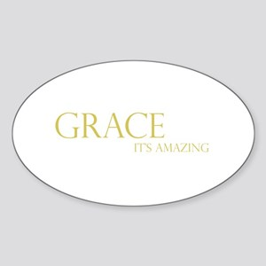 Gold Grace It's Amazing Oval Sticker