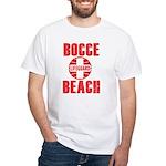 Bocce Beach Men'S White White T-Shirt