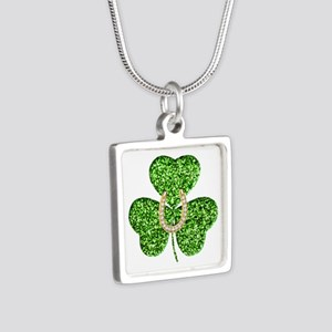 Glitter Shamrock And Horseshoe Necklaces