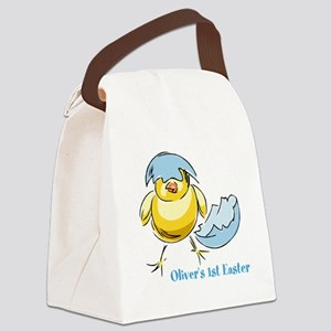 Personalized Hatching Chick Canvas Lunch Bag