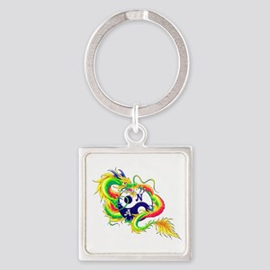 Narcotics Anonymous Dragon Square Keychain