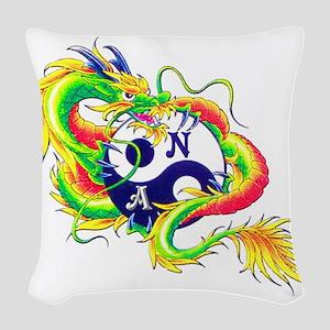 Narcotics Anonymous Dragon Woven Throw Pillow