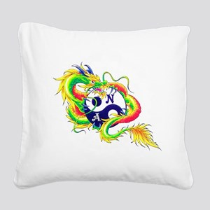 Narcotics Anonymous Dragon Square Canvas Pillow