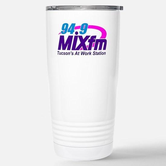 Large MIXfm Logo 2014 Stainless Steel Travel Mug