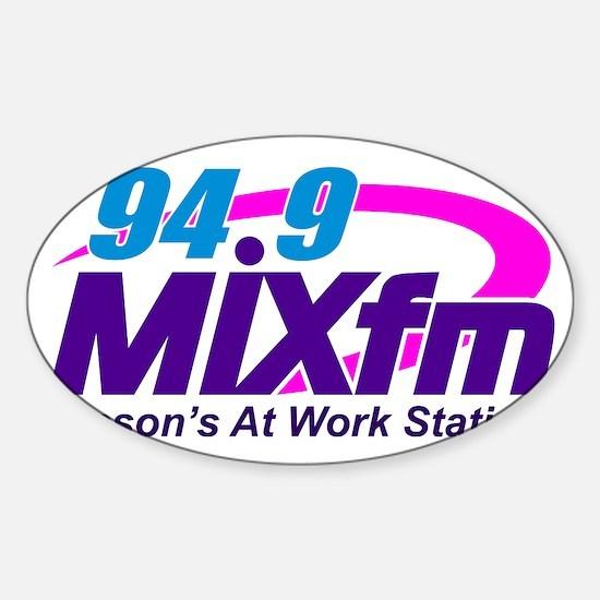 Large MIXfm Logo 2014 Sticker (Oval)