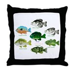 7 Sunfish Throw Pillow