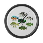 7 Sunfish Large Wall Clock