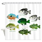 7 Sunfish Shower Curtain