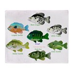 7 Sunfish Throw Blanket