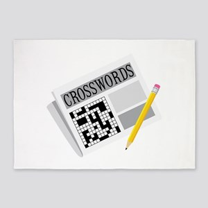 Crosswords 5'x7'Area Rug