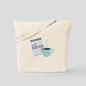 Newspaper Coffee Tote Bag