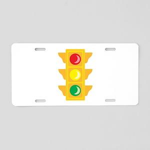 Traffic Signal Light Aluminum License Plate