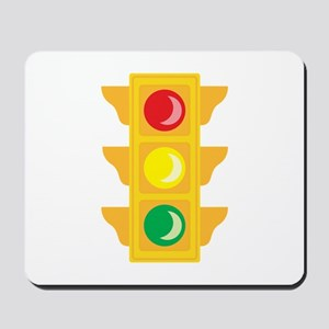 Traffic Signal Light Mousepad