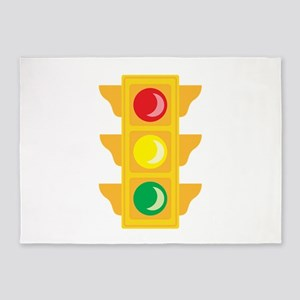 Traffic Signal Light 5'x7'Area Rug