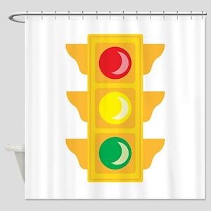 Traffic Signal Light Shower Curtain