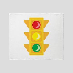 Traffic Signal Light Throw Blanket