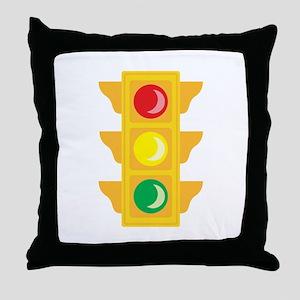 Traffic Signal Light Throw Pillow