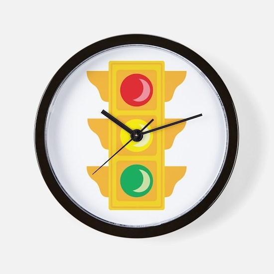 Traffic Signal Light Wall Clock