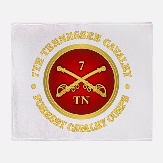7th Tennessee Cavalry Throw Blanket