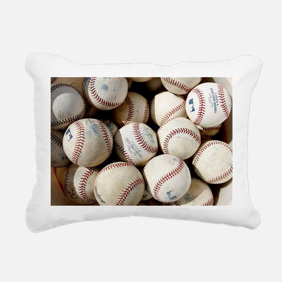 Baseballs Rectangular Canvas Pillow