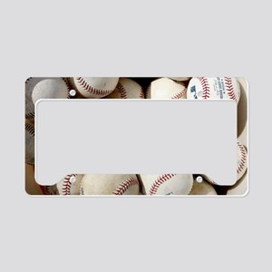 Baseballs License Plate Holder