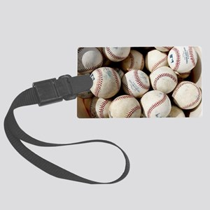 Baseballs Large Luggage Tag