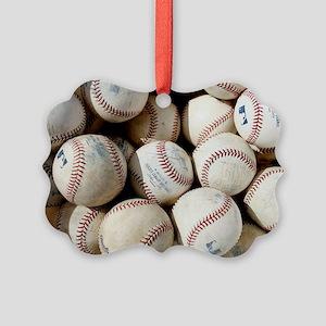 Baseballs Picture Ornament